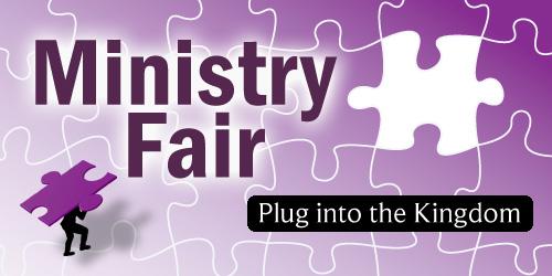 Ministry Fair:  Sunday November 1, 2015